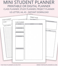 Load image into Gallery viewer, Printable Student Planner - Student Printable Organizer