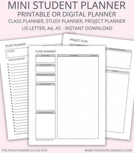 photograph relating to Printable Student Planner Download called Printable Pupil Planner - College student Printable Organizer