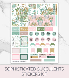 Digital Planner Stickers - Planner Stickers for Goodnotes Notability - Succulents
