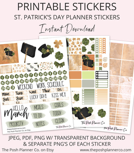 spring printable planner stickers