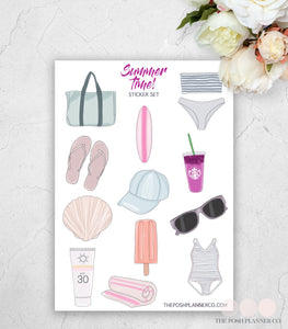summer planner stickers