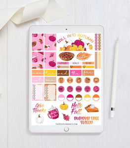 fall thanksgiving planner stickers