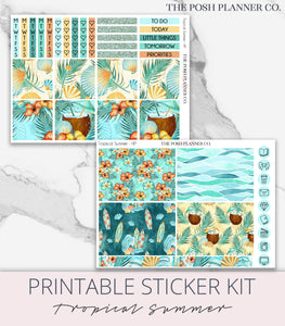 monthly planner sticker kit