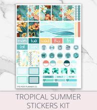 Load image into Gallery viewer, Planner Stickers - Tropical Summer Planner Stickers - Digital Stickers
