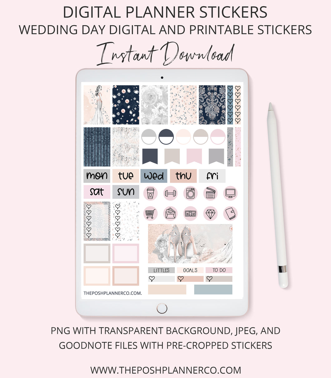 wedding digital planner stickers