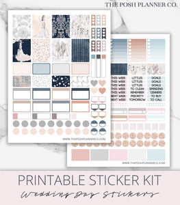 bride planner stickers