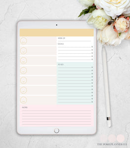 digital planner weekly layout