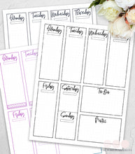 Load image into Gallery viewer, printable planner page