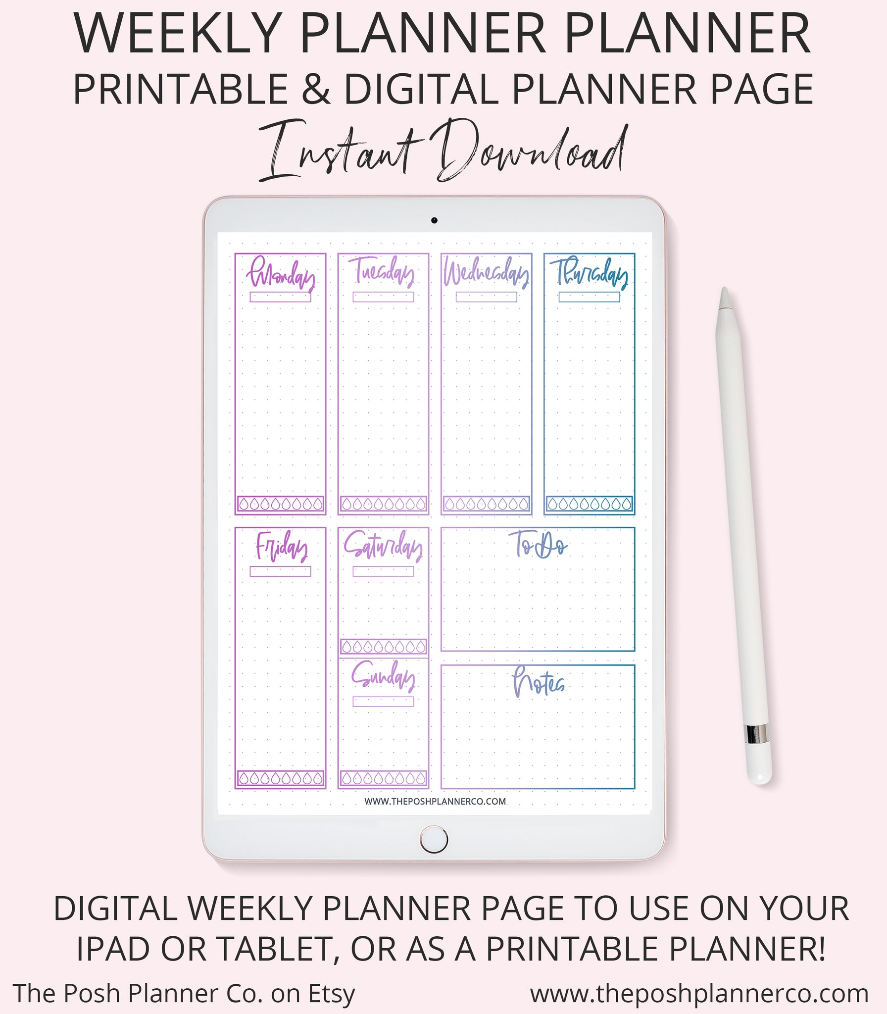 photo regarding Weekly Planner Page identify Printable Weekly Planner - Planner Webpage Include