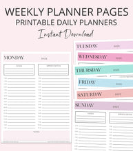 Load image into Gallery viewer, printable planner pages weekly layout