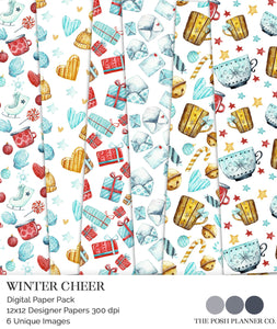 winter scrapbook papers
