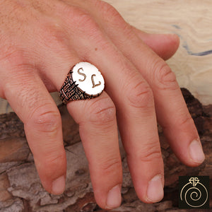 Customized Silver Men's Ring