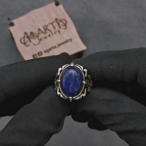 lapis-lazuli-silver-mens-ring-video