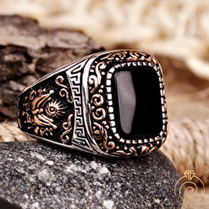 Black-onyx-floral-men-ring
