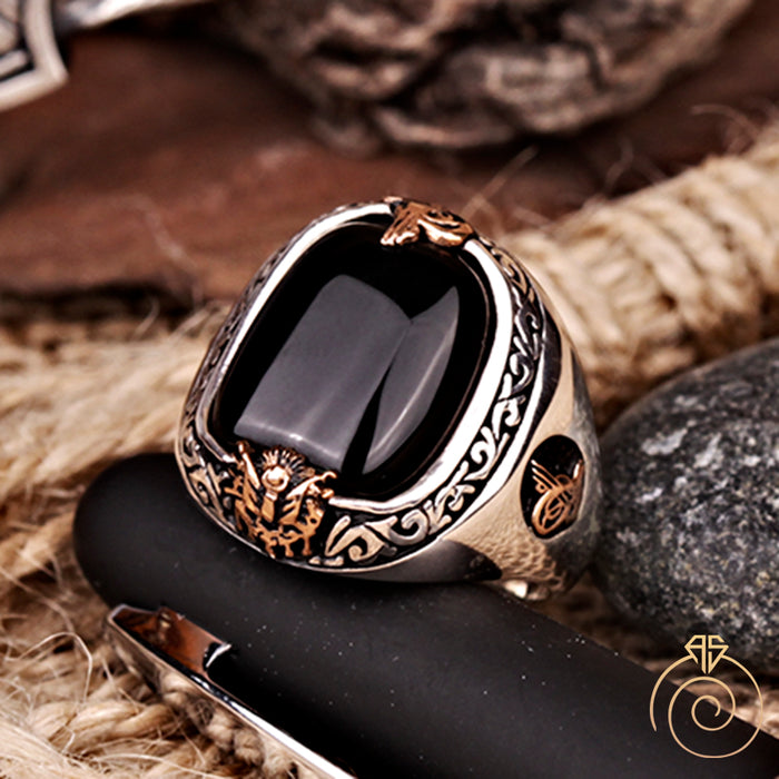 Onyx Imperial Silver Men's Ring