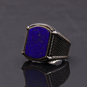Blue-gemstone-mens-silver-jewelry
