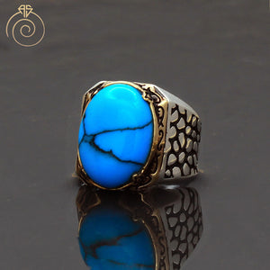 Cabochon-turquoise-gemstone-mens-ring