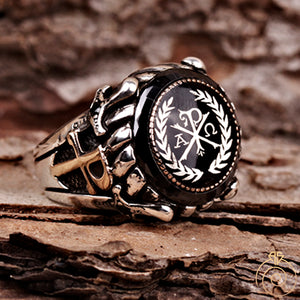 Chi-Rho-Christogram-Staurogra-Cross-ring