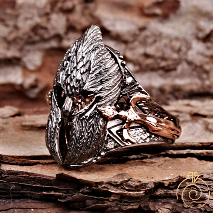 Diamond Warrior Silver Men's Ring