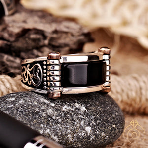 Floral-goth-protection-men-ring