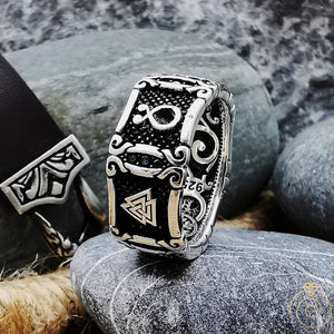 Exclusive Silver Viking Signet Band