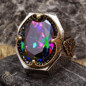 Mystic-topaz-men-silver-ring