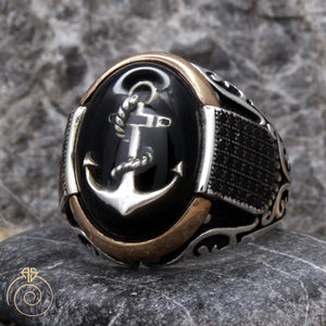 Custom Sailor Anchor Men's Ring