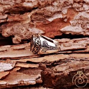 Occult-ethnic-trival-men-ring
