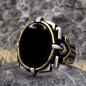 Onyx-black-silver-mens-ring