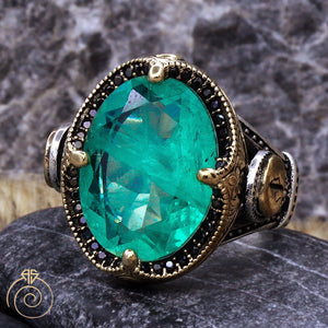 Paraiba-Tourmaline-men-silver-ring
