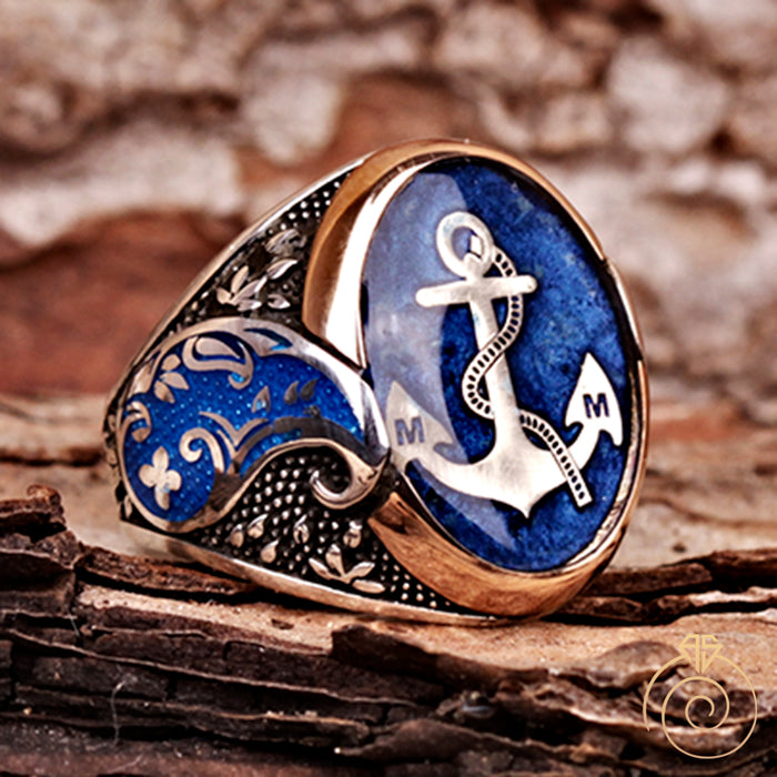Custom Made Sailor Anchor Men's Ring