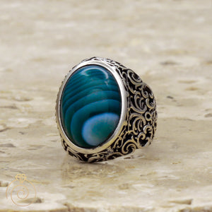 Stylish-Strange-cabochan-silver-ring