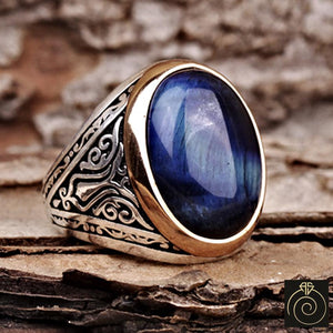 Tiger-eye-blue-men-ring
