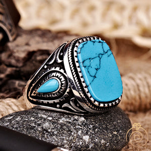Turquoise-blue-men-ring-boho