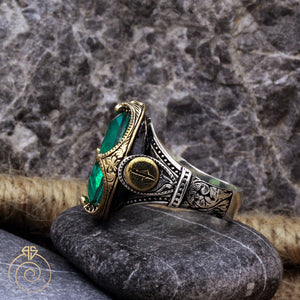 Paraiba Tourmaline Victorian Men's Ring