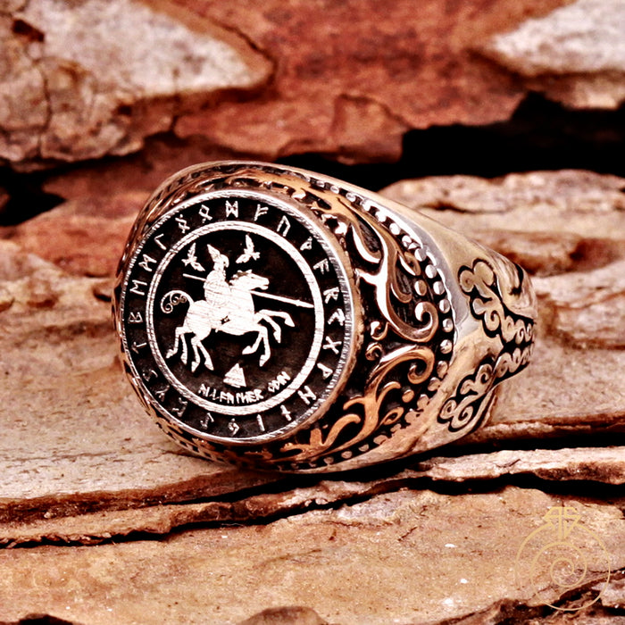 Odin Valkunt Silver Men's Ring