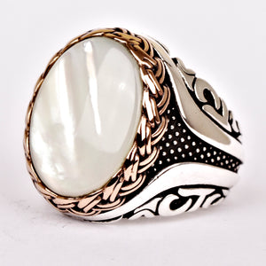 White-Mother-of-Pearl-Wedding-Ring