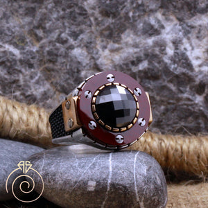 agate-red-silver-men_s-ring