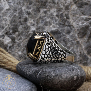 alligator-scales-claw-silver-ring