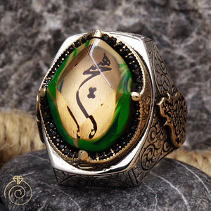 amber-green-silver-mens-ring