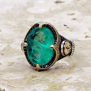 antique-paraiba-tourmaline-silver-ring