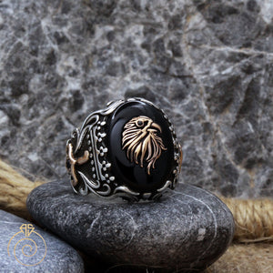 cabochon-stone-tribal-men's-ring