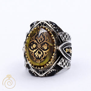 dagger tribal imperial men ring