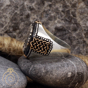 engraved-Unique-elegant-silver-ring
