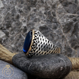 fish-scale-engraved-silver-ring
