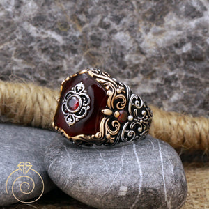 floral-shield-chivalric-men's-ring