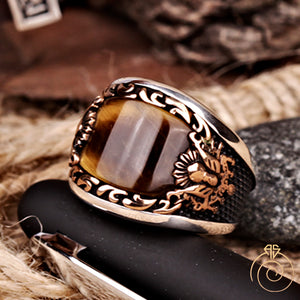Tiger-eye-men-ring-brown
