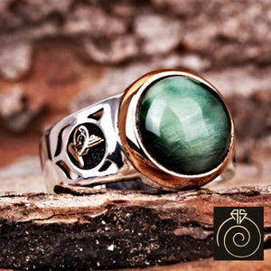 Tiger Eye Gemstone Men's Ring