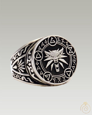 Witcher Wolf Seal Custom Silver Ring