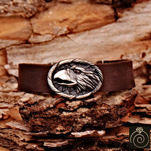 Men's Eagle Head Silver Bracelet